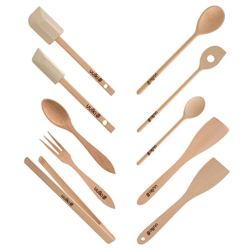 Uulki houten keukenhulpen set basic 10-delig
