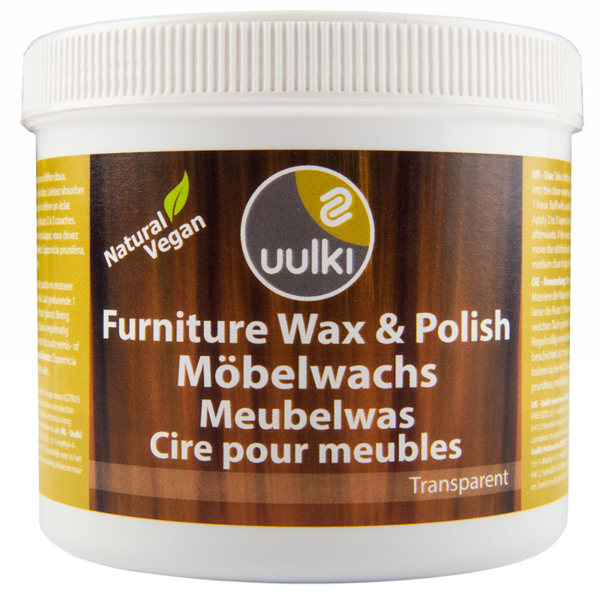 Uulki natural wood wax for indoor furniture