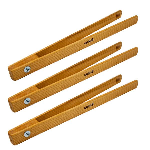 Uulki wooden bbq tongs set