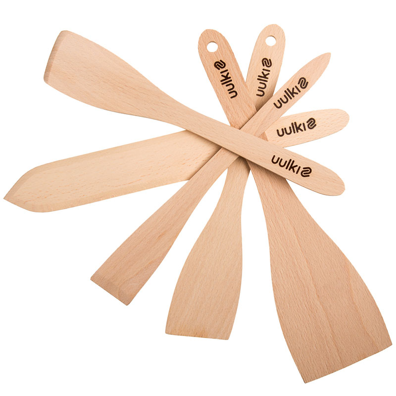 Uulki wooden spatula set