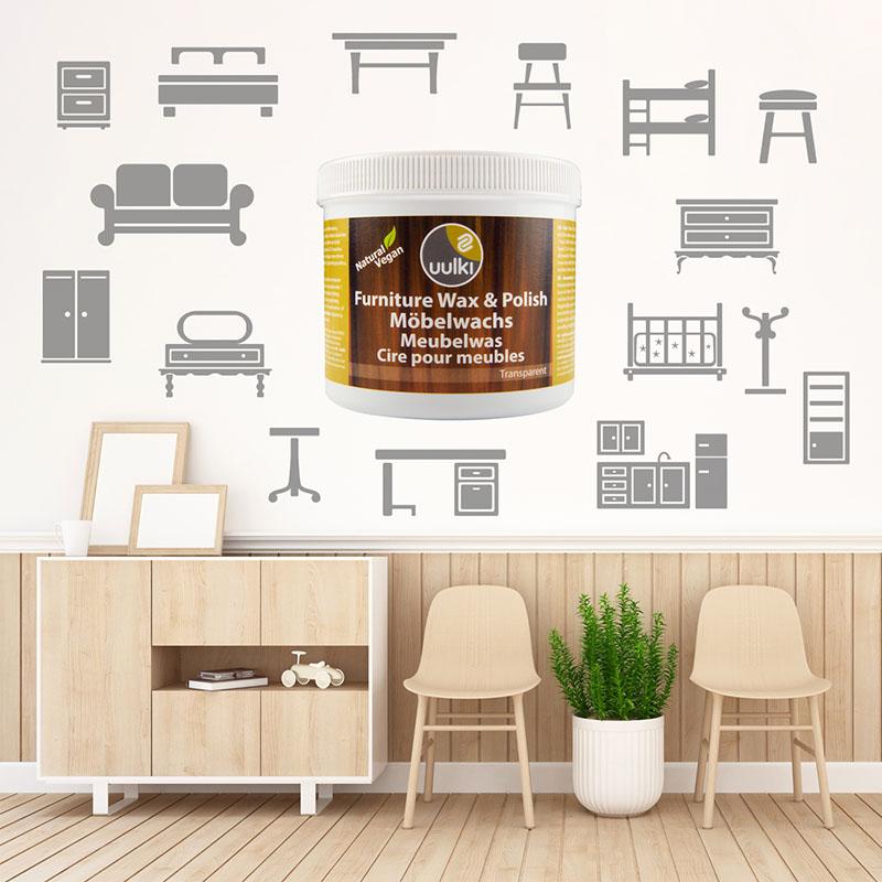 houten meubels wax polish