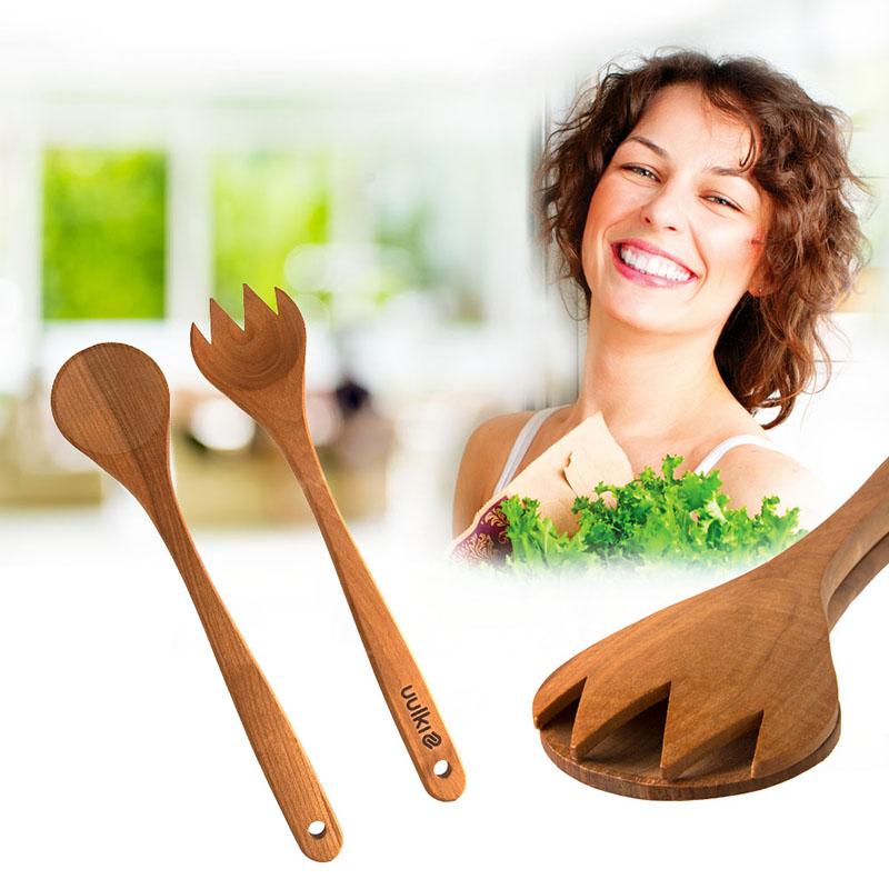 salad servers wood