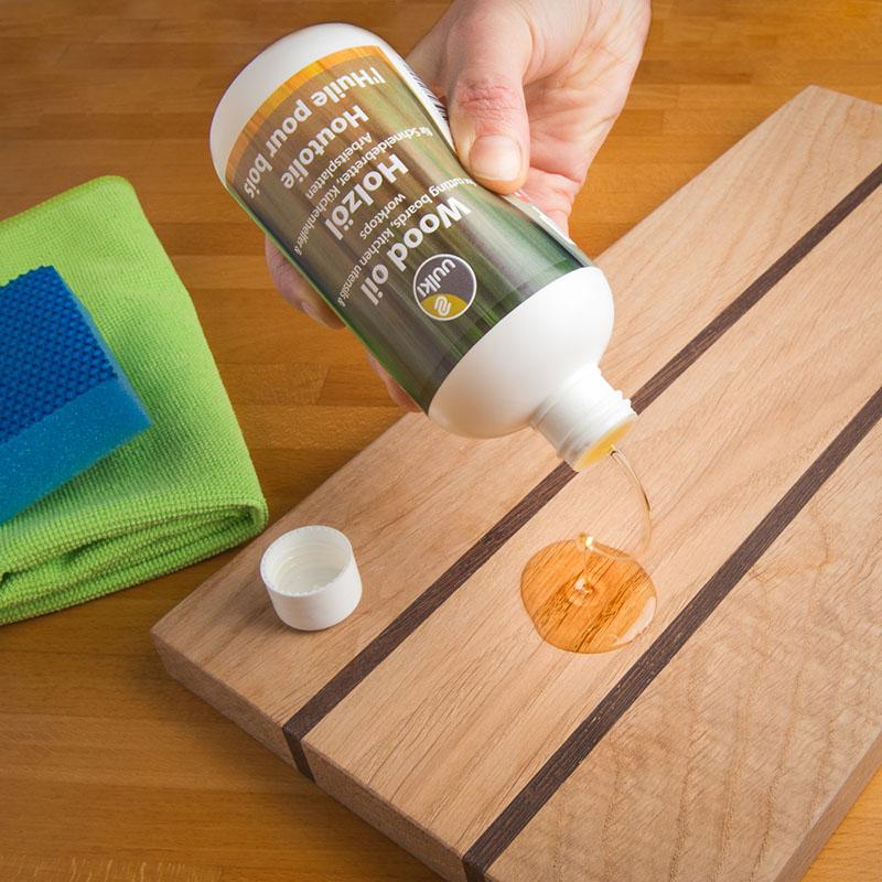 houten snijplank onderhouden met olie