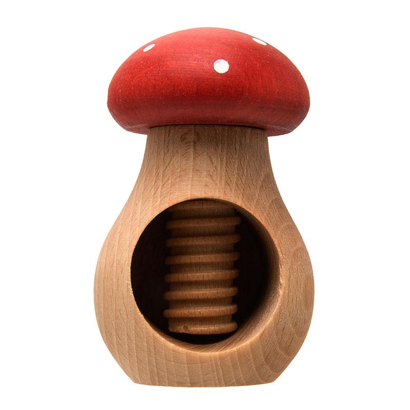 uulki wooden nutcracker mushroom