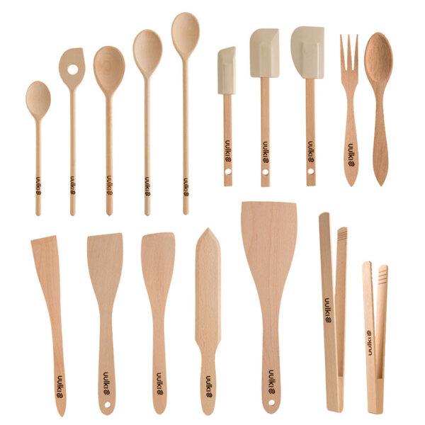 Uulki wooden cooking utensils set
