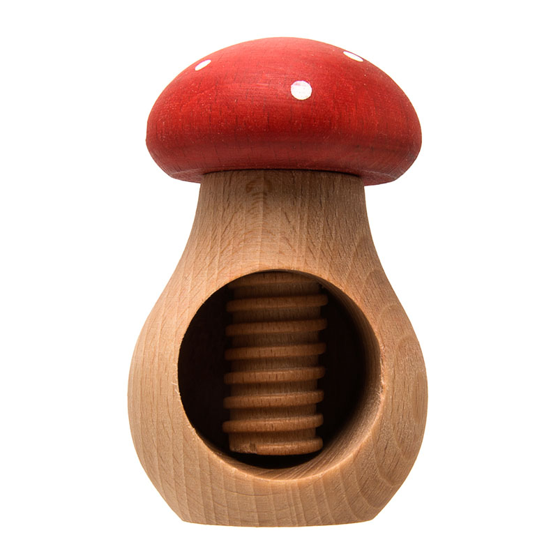 uulki casse-noix en bois champignon