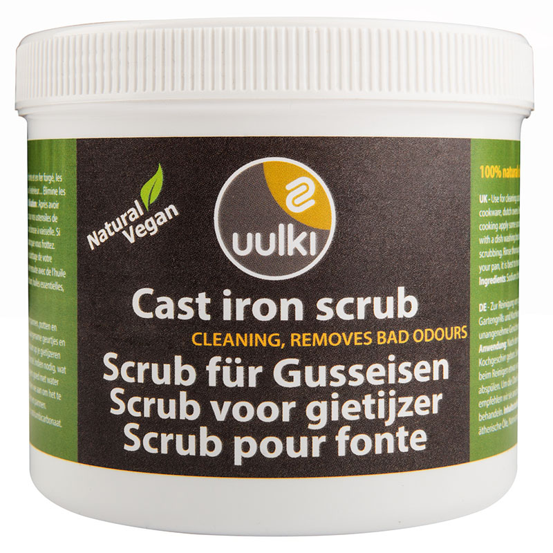uulki cast iron cleaning scrub
