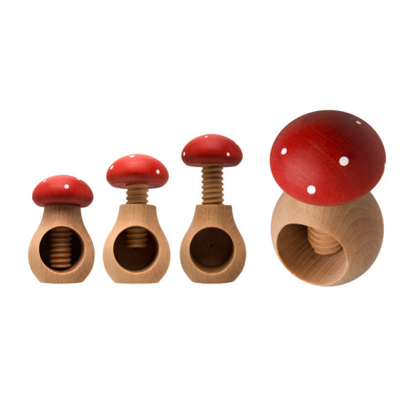 uulki houten notenkraker paddenstoel