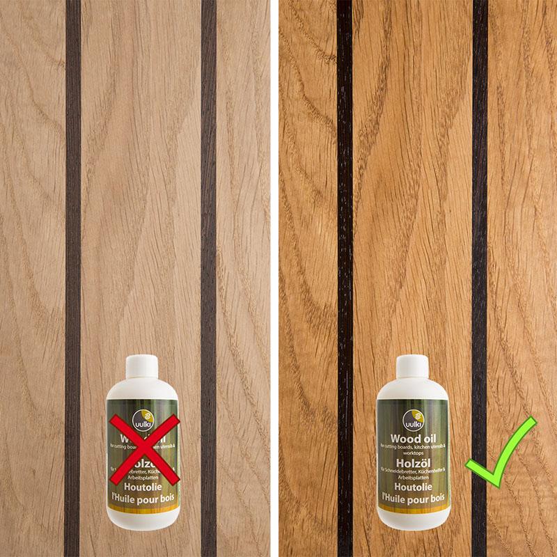 verzorging van een houten snijplank