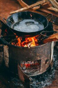onderhoud gietijzeren pan