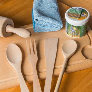 reinigen houten kookgerei