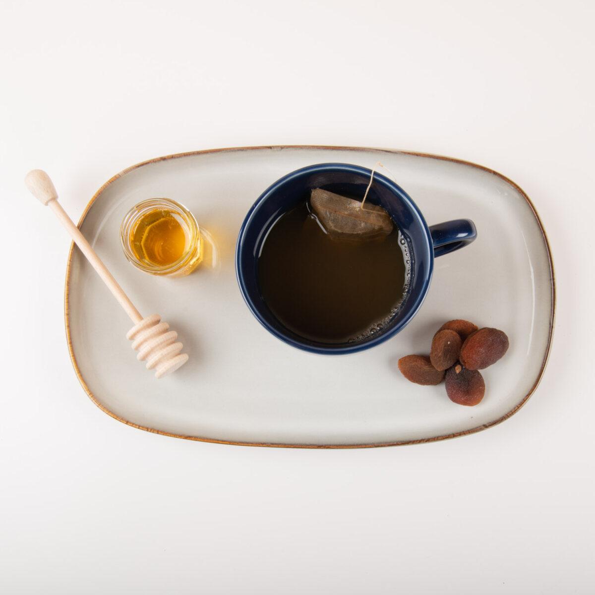 wooden dipper for honey maple jam molasses agave