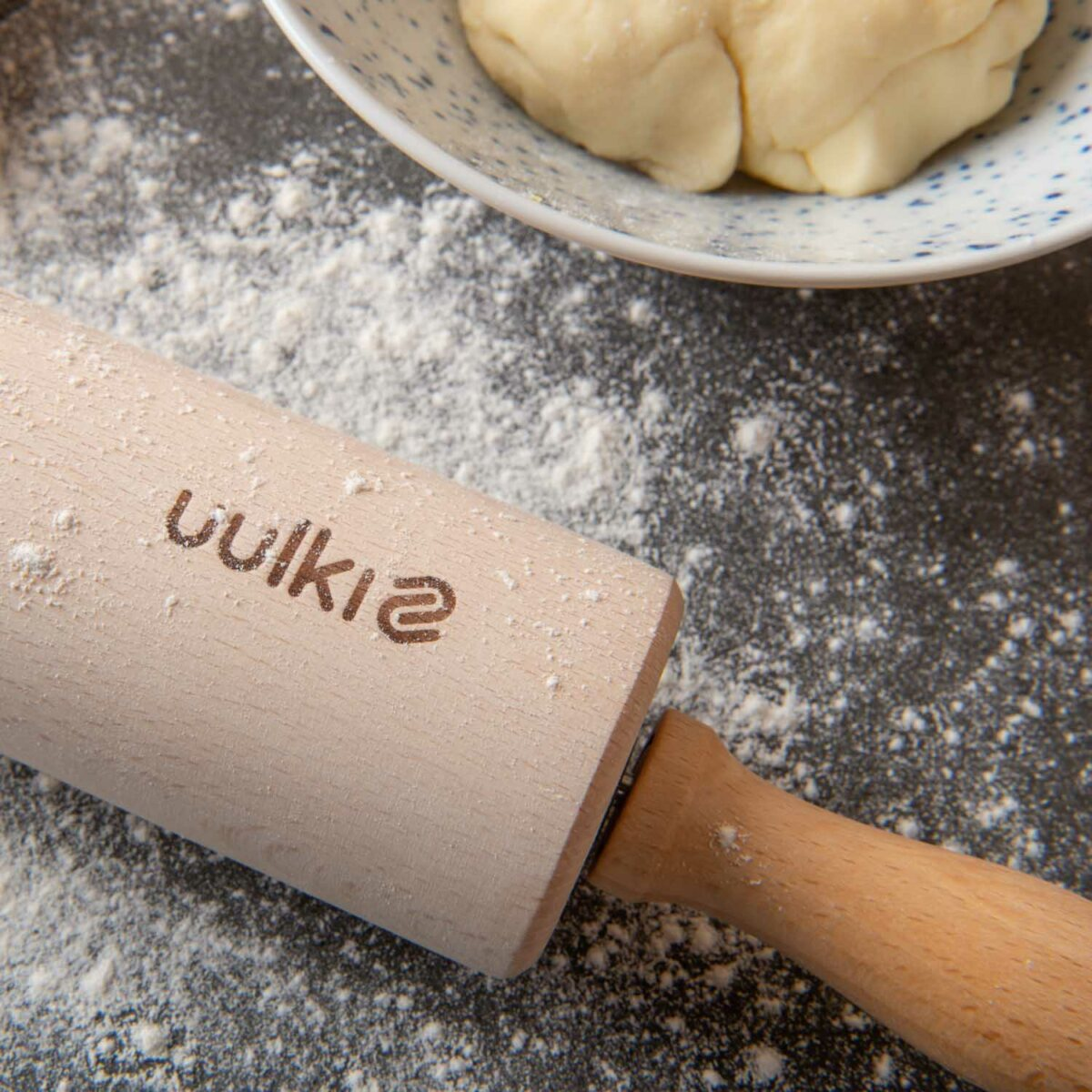 rolling out pastry dough