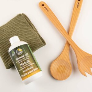 wood oil kitchen utensils