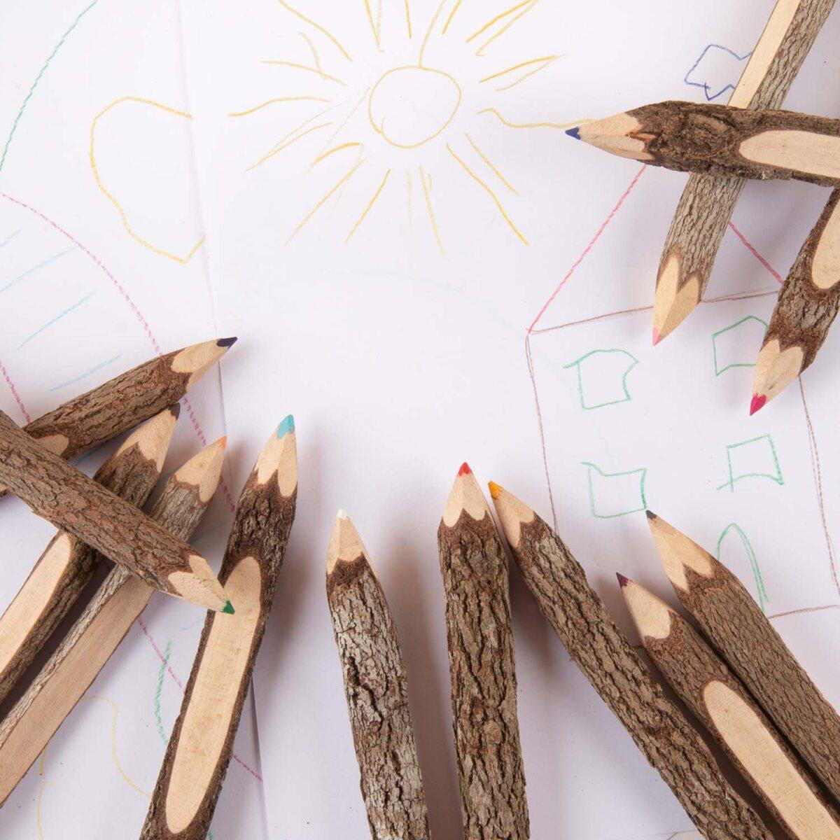 handmade coloured pencils