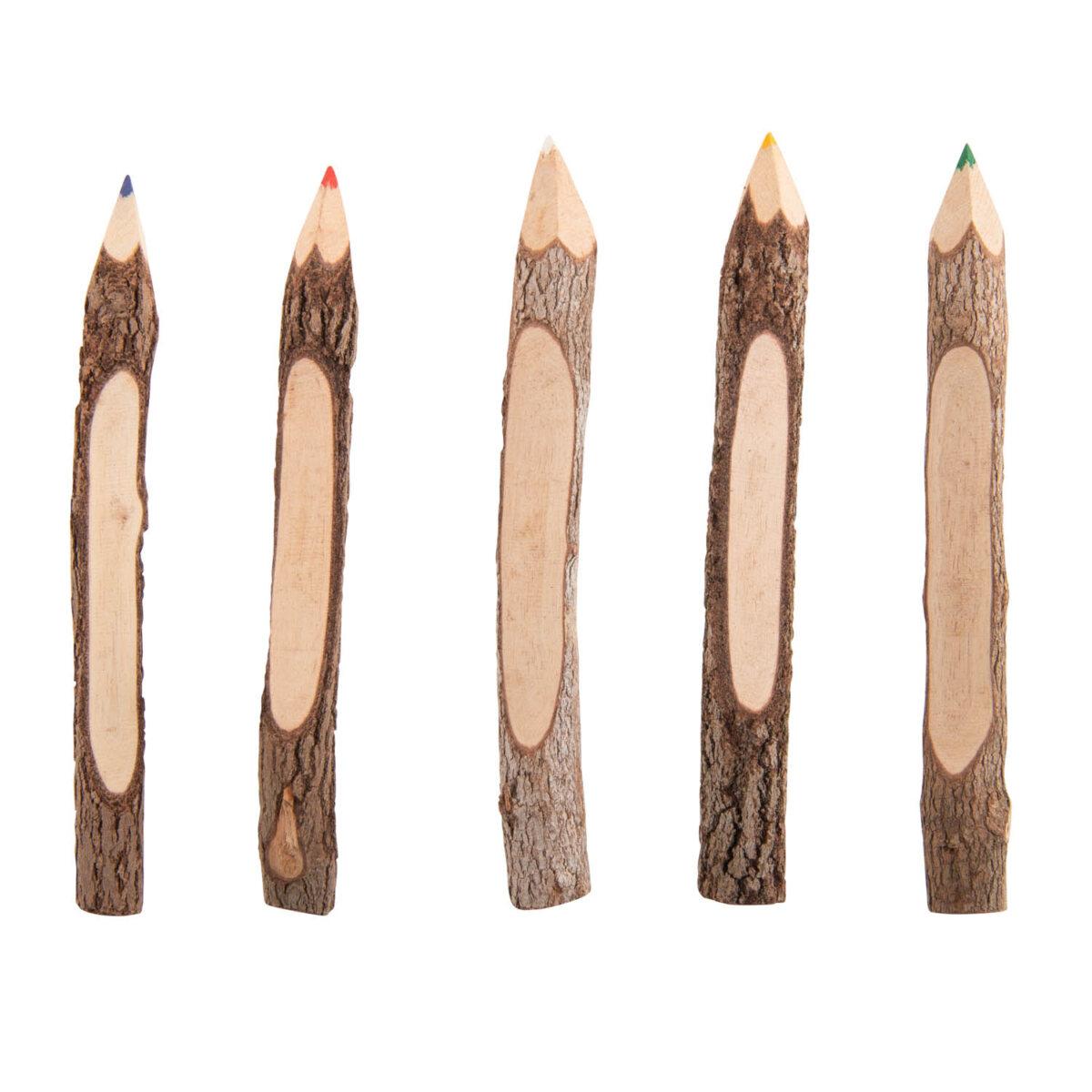 uulki houten kleurpotloden met boomschors