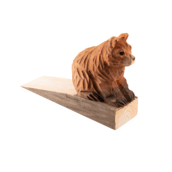 uulki wooden door stop bear