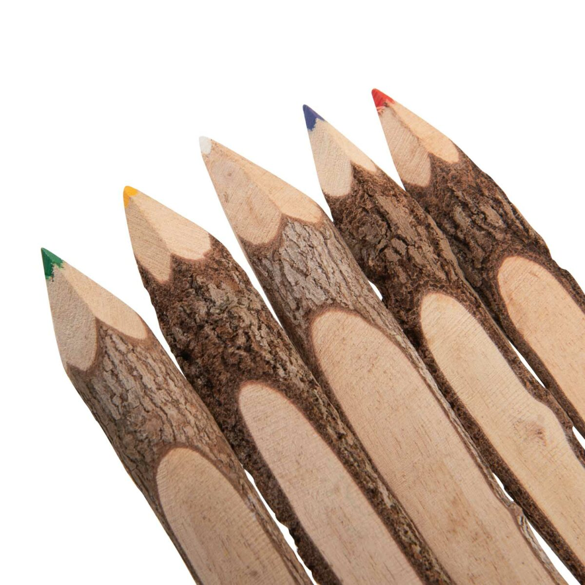 wooden coloured pencils
