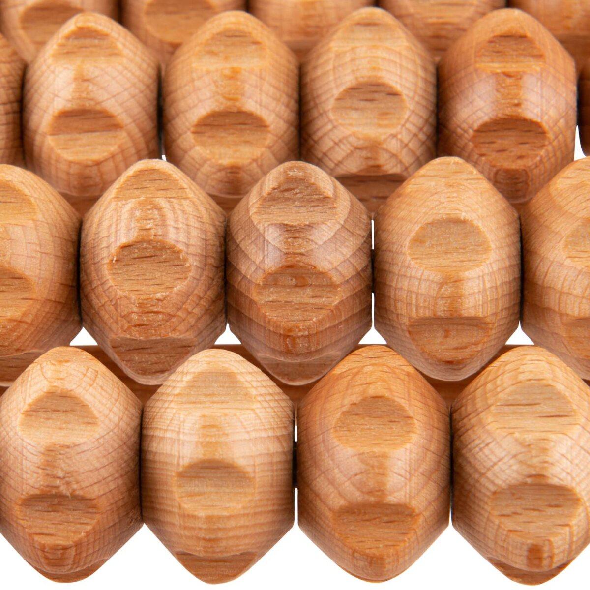 wooden foot massage tool